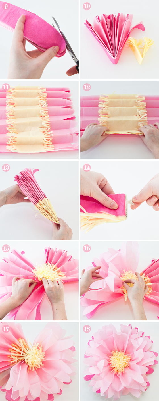 How to Make Tissue Paper Flowers DIY