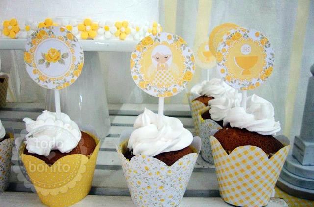 Riquísimos cupcakes1ra comunion niñas