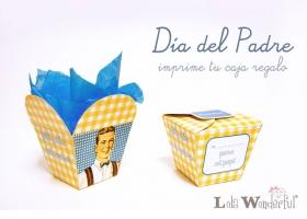 Día del padre: especial bolsas y cajitas para imprimir gratis