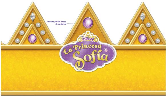 Corona Princesa Sofia para imprimir gratis