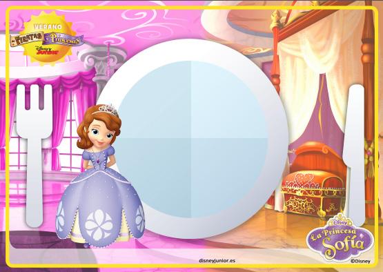 Individual Princesa Sofia para imprimir gratis