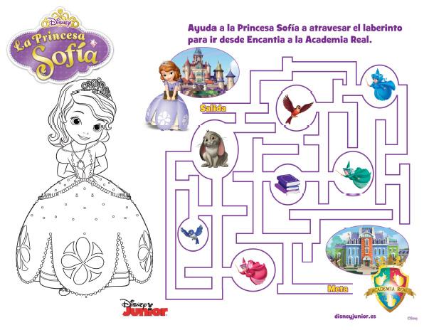Imprimibles gratis Princesita Sofía - Todo Bonito