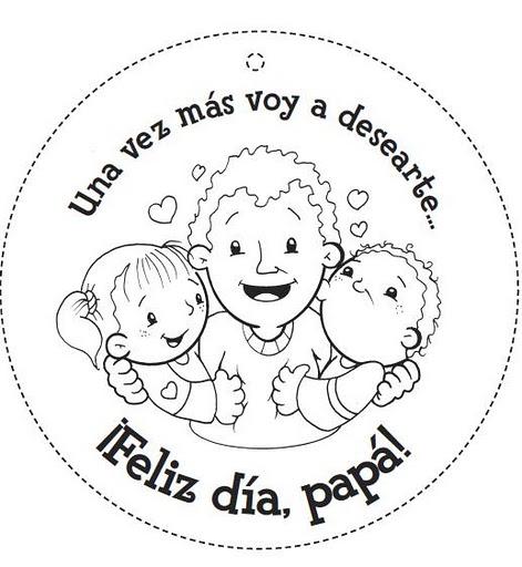 Día de Padre tarjetas para imprimir y colorear gratis