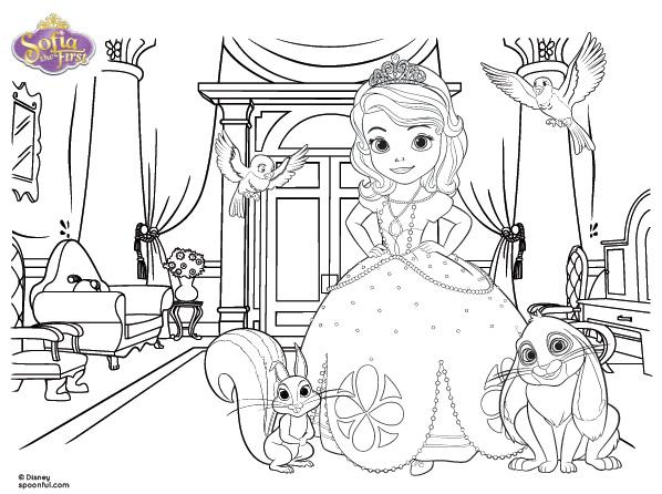 Princesita Sofia para colorear gratis