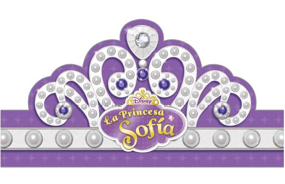 Tiara Princesa Sofia para imprimir gratis