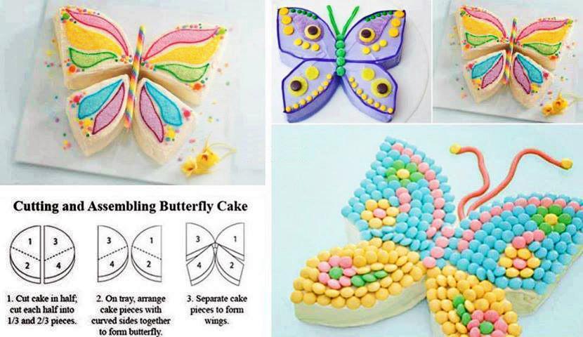Como hacer un pastel con forma de mariposa