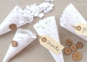 Originales ideas con blondas de papel