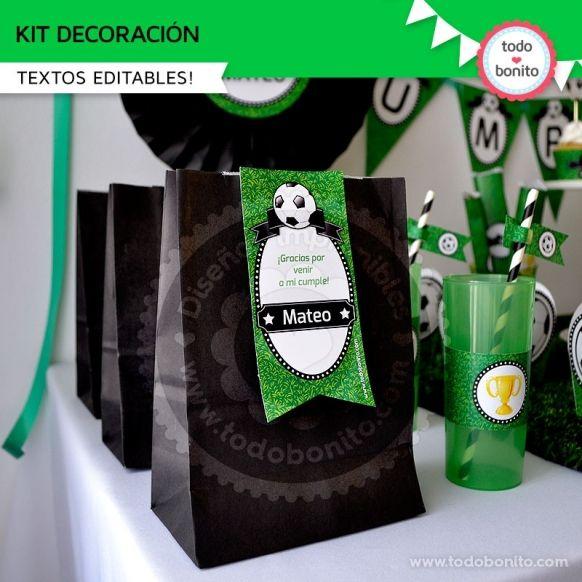 Kit de decoración Modelo Fútbol Todo Bonito