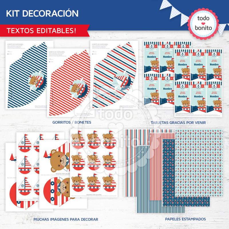 Kit de decoración nautico imprimible Todo Bonito