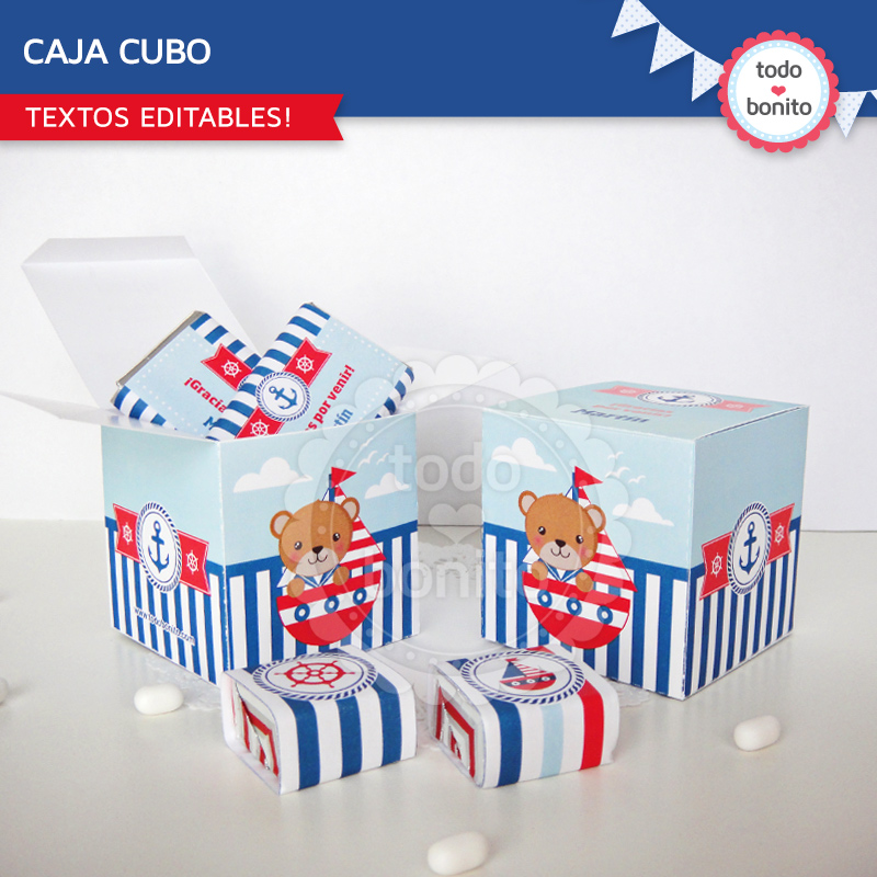 Caja souvenirs chocolatinas