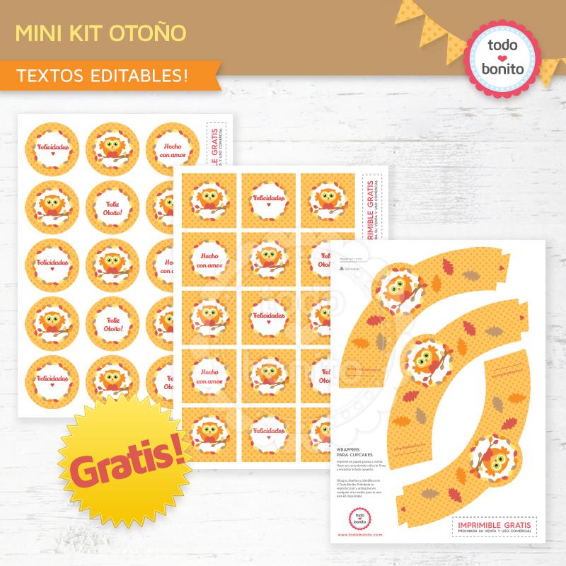 kit imprimible de otoño gratis