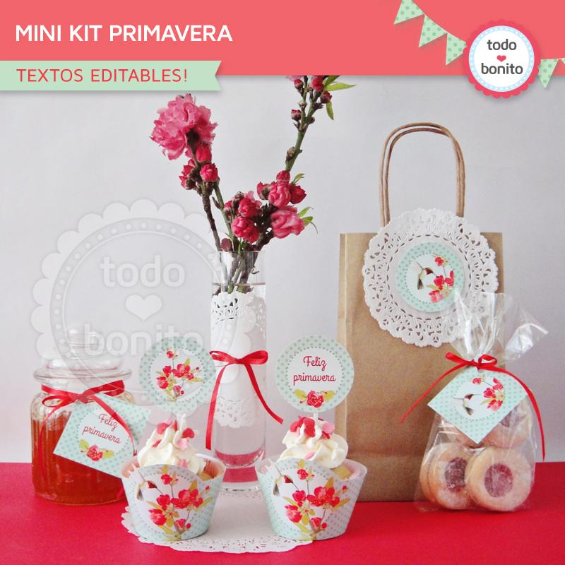 Mini Kit primavera para imprimir gratis
