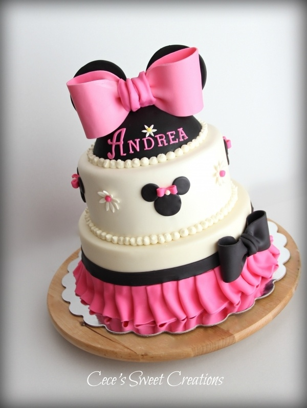Torta de ,Minnie para bebé - Imagui