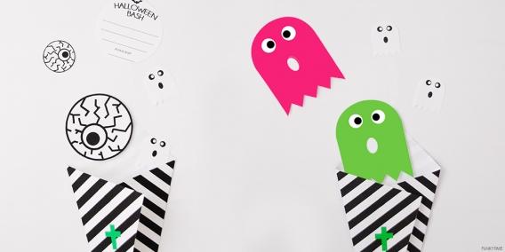 Invitaciones de Halloween para imprimir gratis