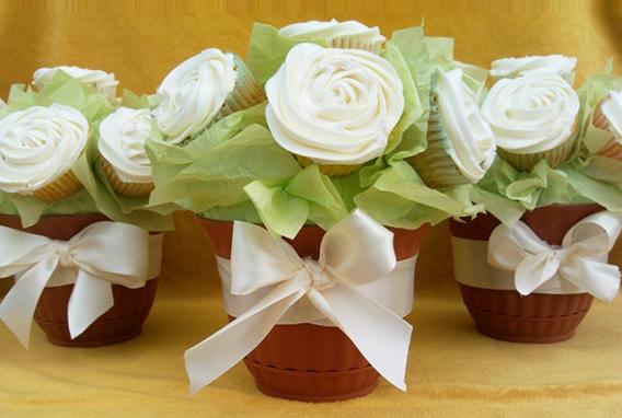 Bouquet o ramo de cupcakes