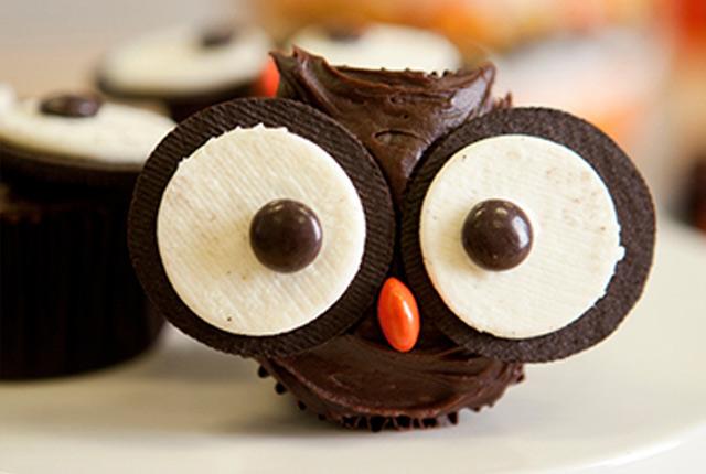 Cupcakes de lechuza