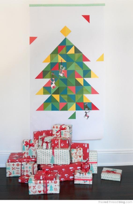 Cómo hacer un árbol navideño con papeles de colores