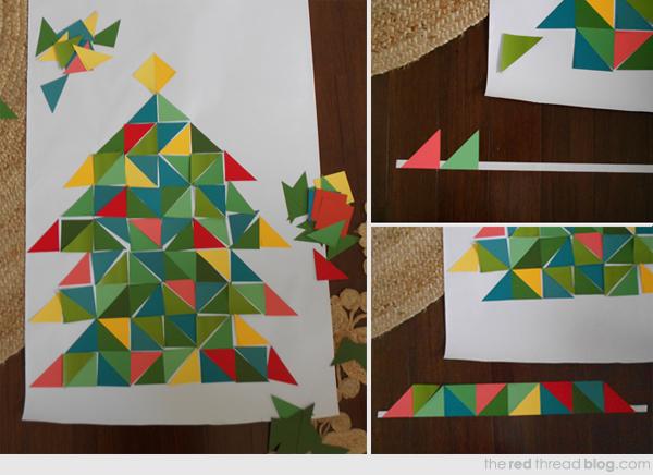 haciendo un árbol de papel