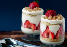 Receta postre Trifle de frutillas