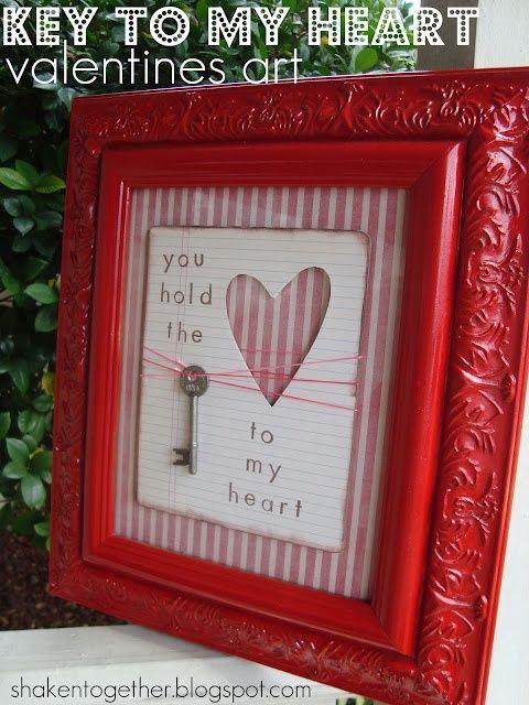 cuadro y llave corazon