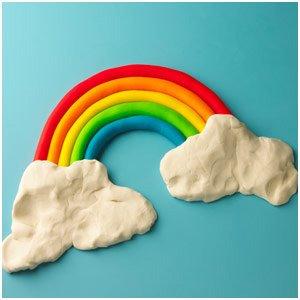 arco iris plastilina