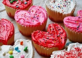 Cupcakes corazón...!