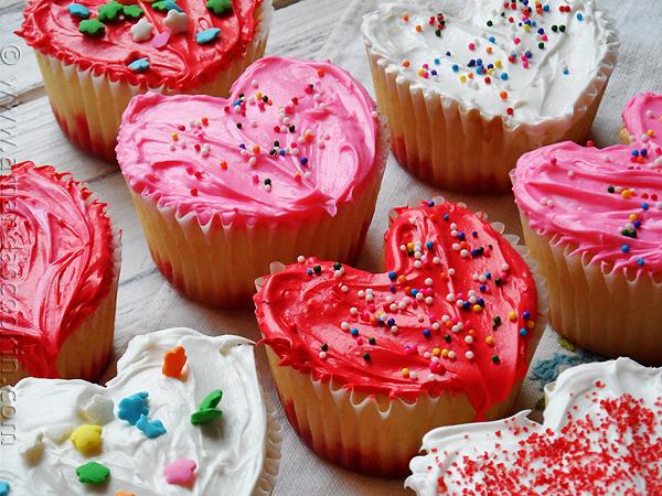 Cupackes de corazon