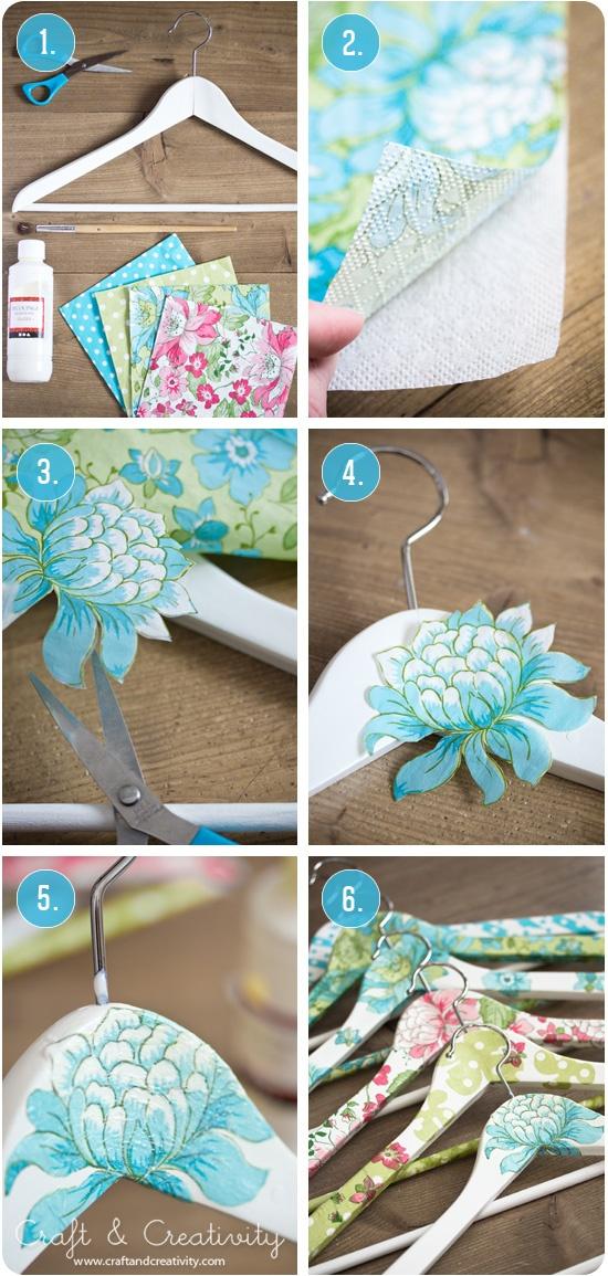 Ideas con decoupage todo bonito - Perchas para ropa de bebe ...
