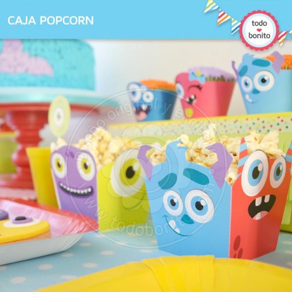 Caja popcorn para imprimir Monstruitos