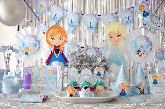 Kit imprimible de Frozen por Todo Bonito