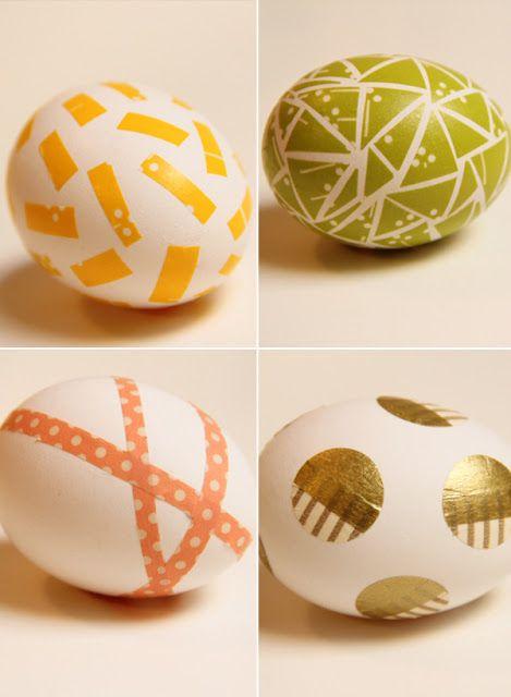 huevos decorados washi tapes