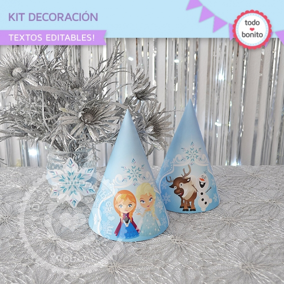 Kit Decoración de Frozen Gorritos