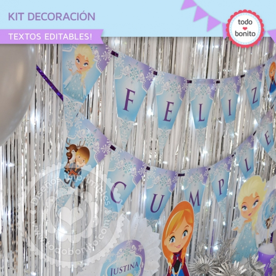Kit Decoración de Frozen