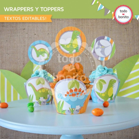 Wrappers y Toppers Dinos