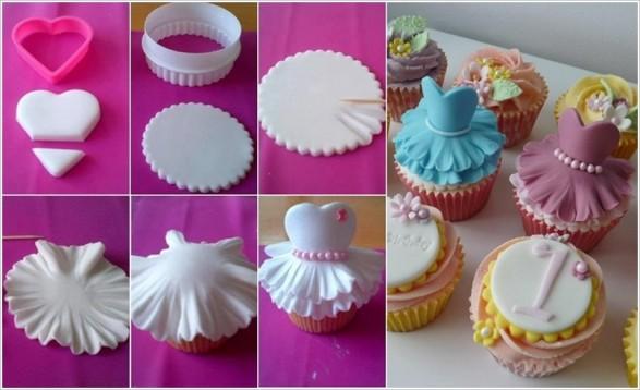 Cupcakes Vestidos De Bailarina O Princesa Paso A Todo Bonito
