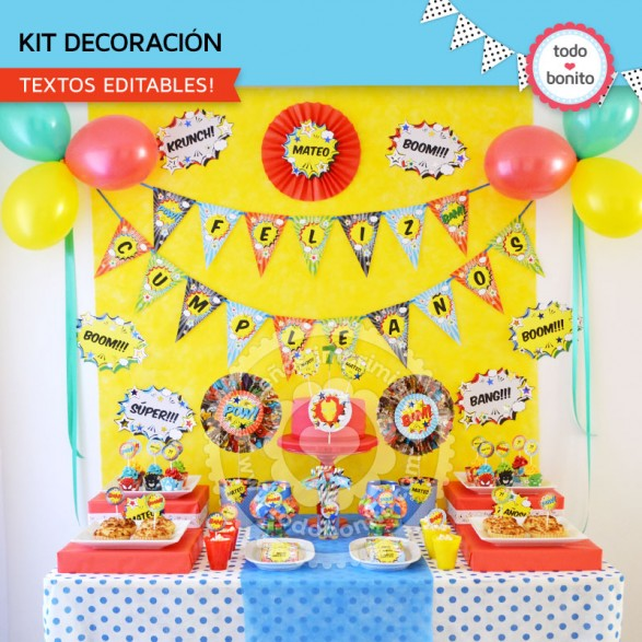Kit decoración Superheroes