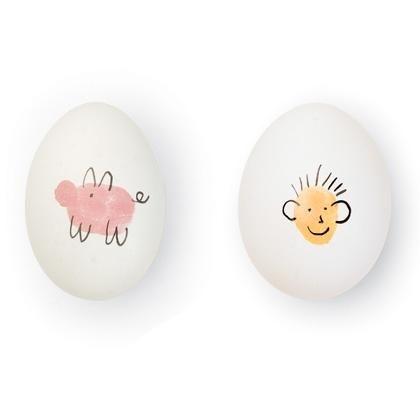 huevos decorados simples