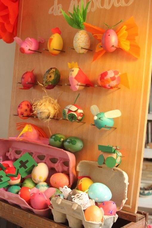 Panel huevos decorados