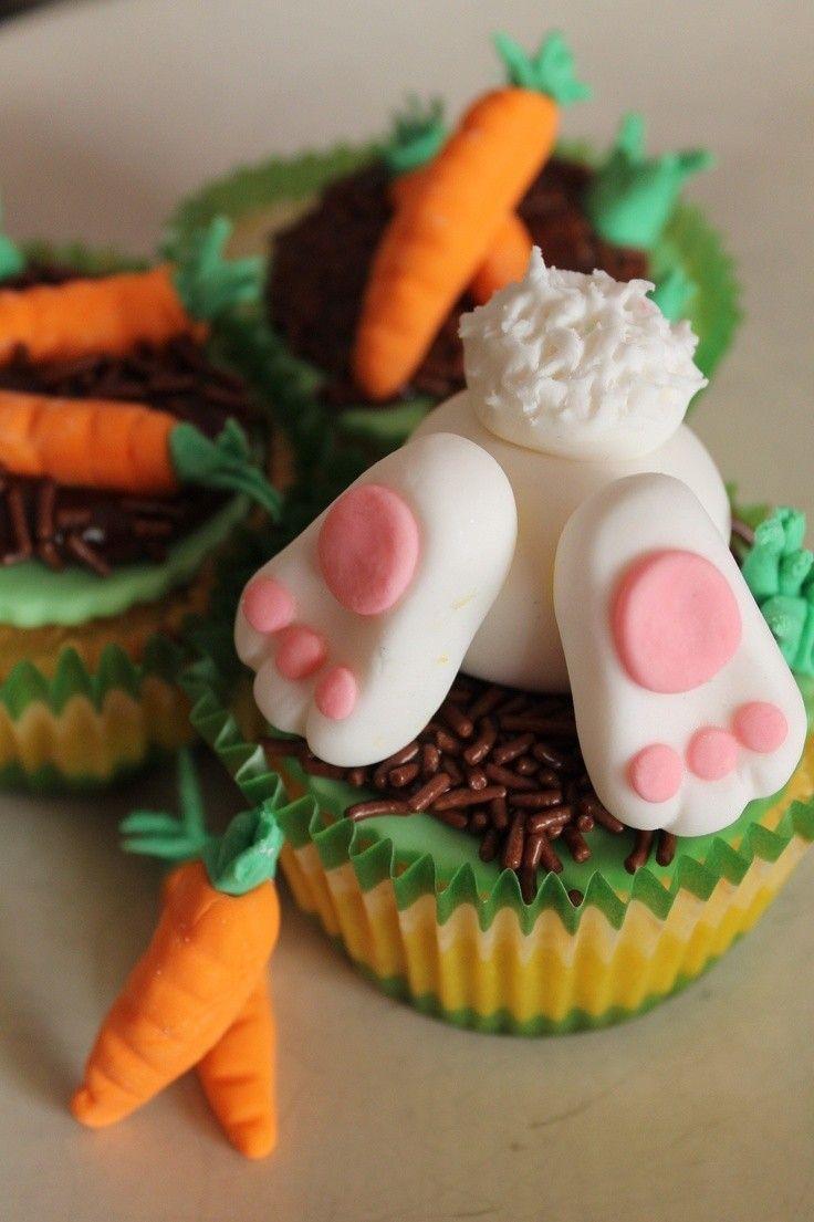 Cupcakes conejito de cola for Ideas for thanksgiving cupcake decorations