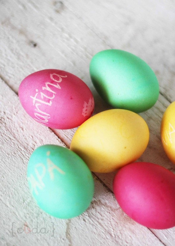 huevos decorados colores