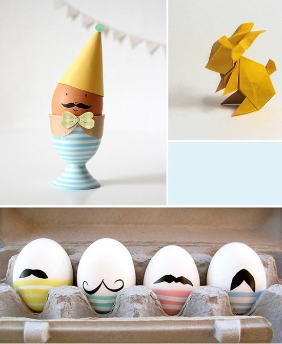 huevos decorados Mustache