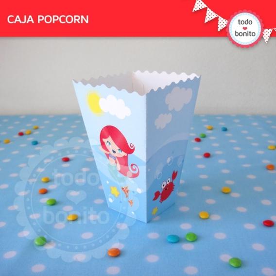 Cajita PopCorn del kit de Sirenita
