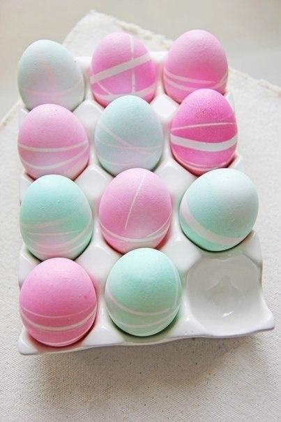 huevos decorados colores pasteles