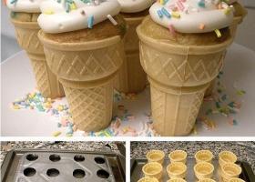Conitos de helado... que no se derriten!
