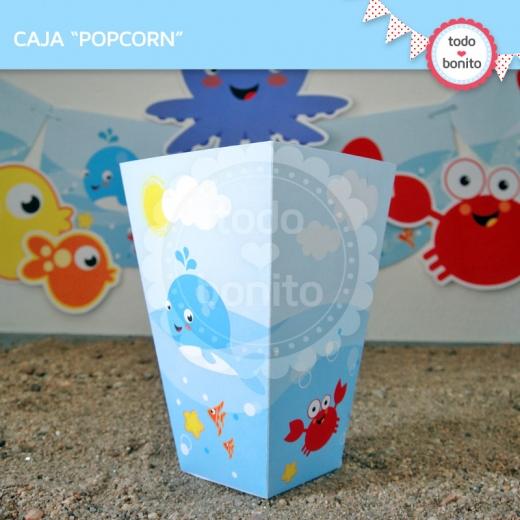 Caja popcorn Bajo el Mar