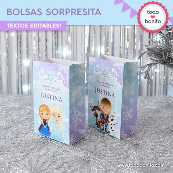 Bolsitas de Frozen para imprimir