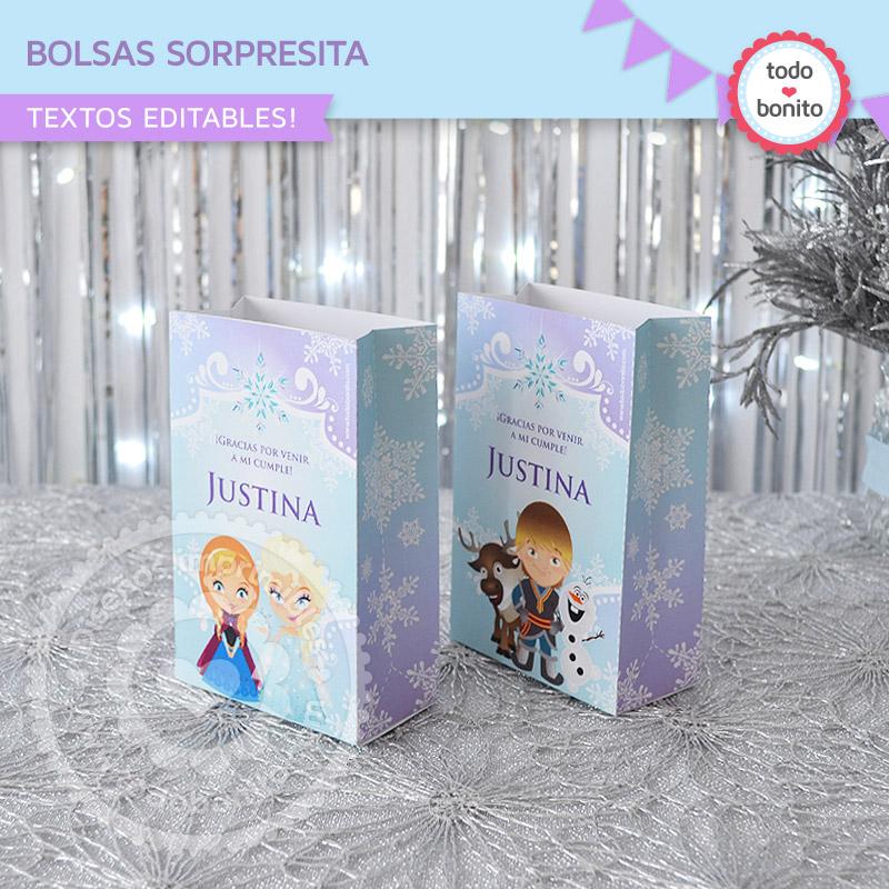 Bolsa Sorpresita para Imprimir Frozen Todo Bonito