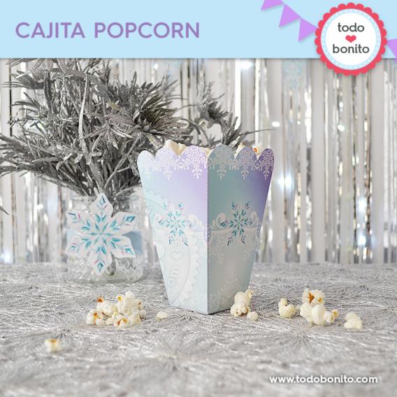 Cajita popcorn de Frozen para imprimir