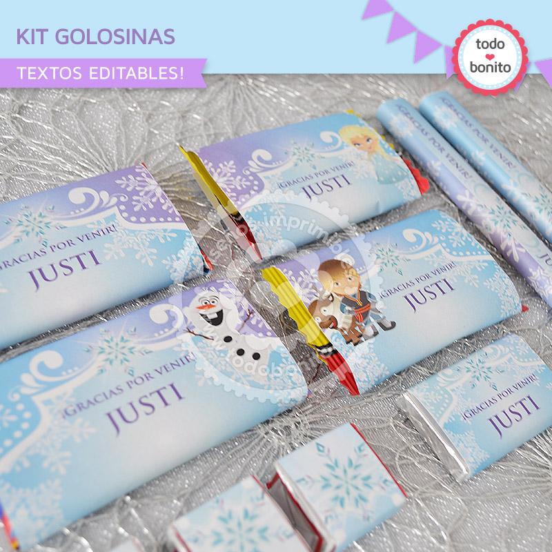 Kit de Golosinas Imprimibles Frozen Todo Bonito
