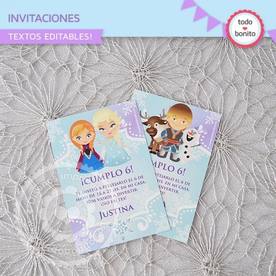 Invitaciones Imprimibles Frozen